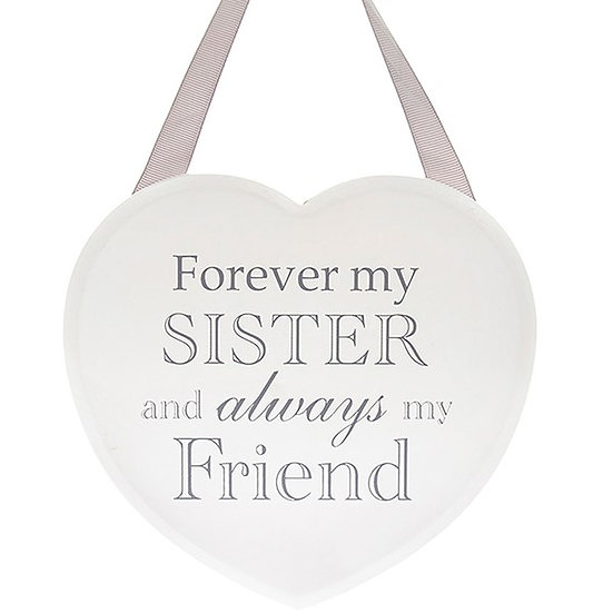 Shabby Chic Hanging Heart - Sister
