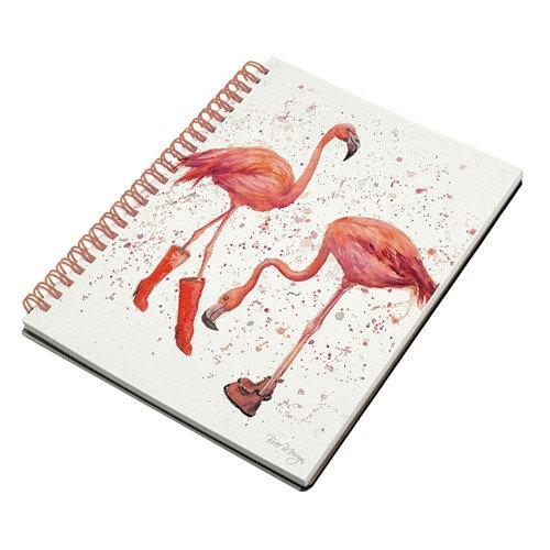 Felicity & Flora Flamigos A5 spiral notebook