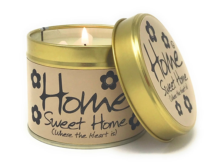 Lily Flame Home Sweet Home Tin Candle
