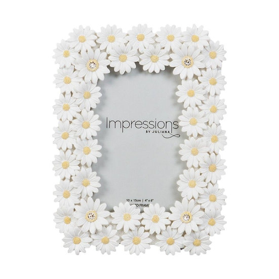 """4"""" x 6"""" Floral Daisy Photo Frame"""