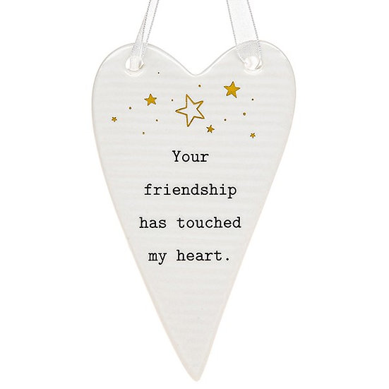 Thoughtful Words Hanging Plaque - Friendship