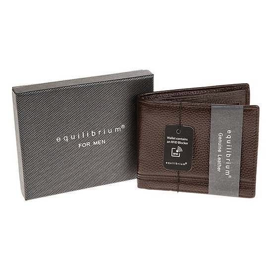 EQ for men Brown Leather Wallet