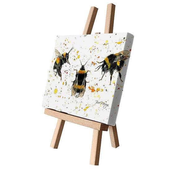 Three Bees Canvas Cutie