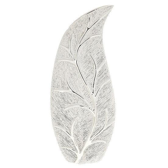 Champagne Leaf Design Slender Vase