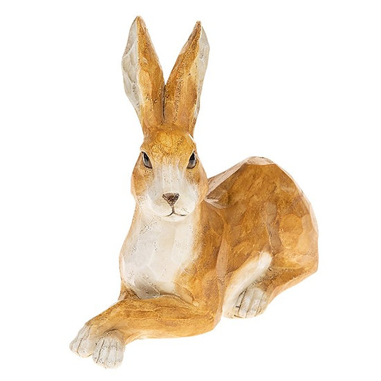 Laying Down Hare - Resin Ornament