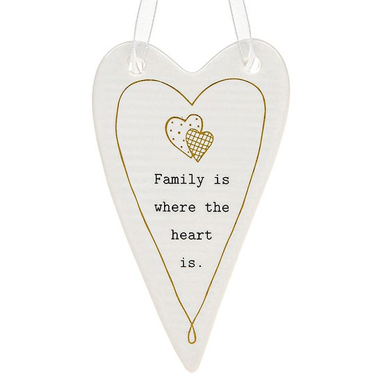 Thoughtful Words Hanging Plaque - Family