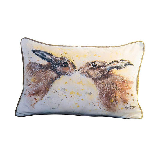 Hannah & Henry Hares Luxury Rectangular Cushion