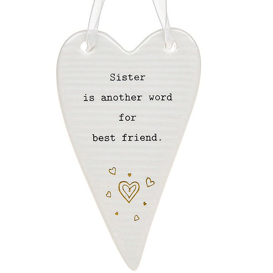 Thoughtful Words Hanging Plaque - Sister