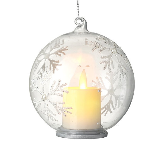 Glass Bauble with LED candle