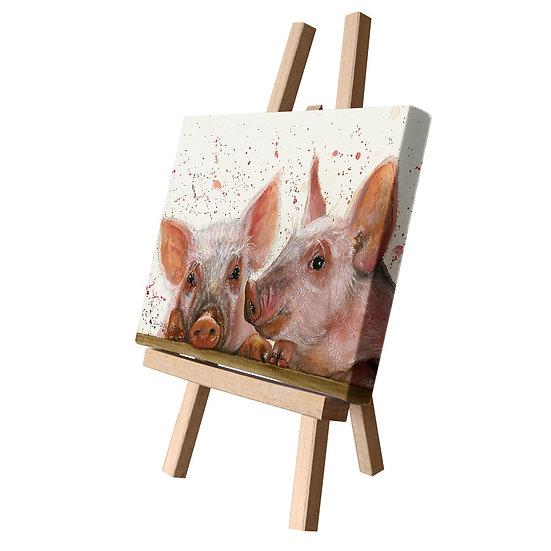Purdy & Peyton Pigs Canvas Cutie