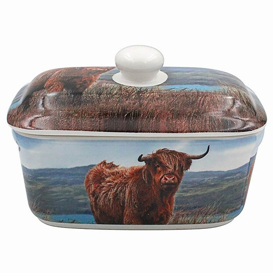 Butter Dish - Highland Cow