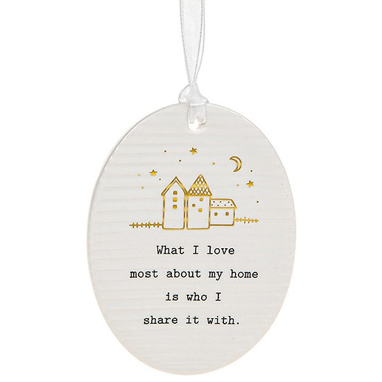 Thoughtful Words Hanging Plaque - Love Home