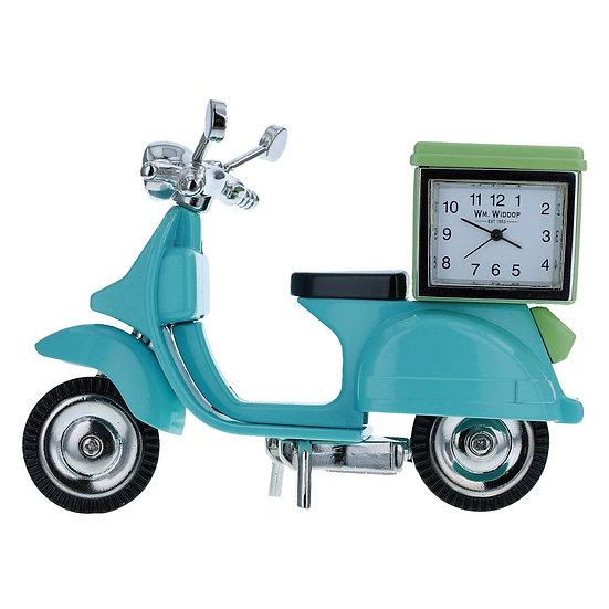 Vespa Scooter Miniature Desk Clock