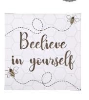 Beelieve In Yourself Canvas Plaque