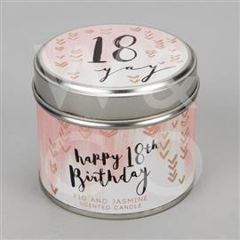 18th Birthday Tin Candle