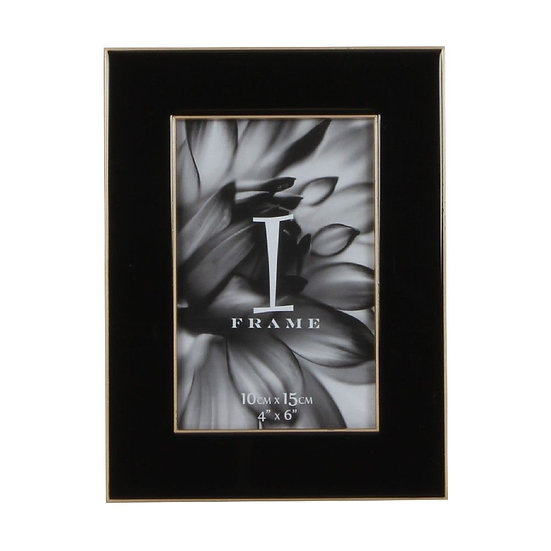 """4"""" x 6"""" iFrame Black Photo Frame with Gold Border"""
