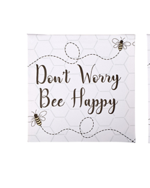 'Don't Worry BEE happy canvas plaque