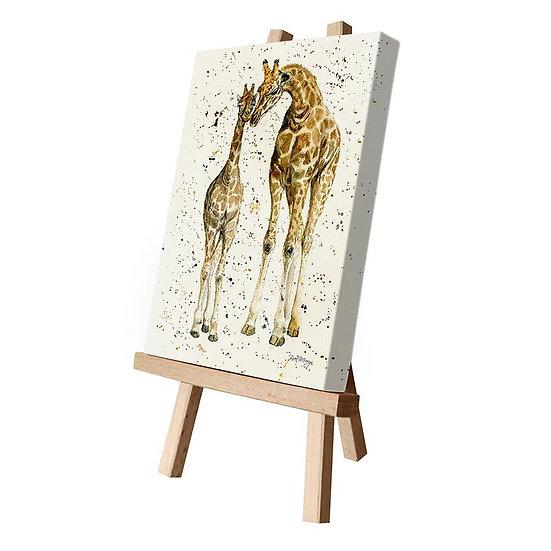 A Mothers Love Giraffes Canvas Cutie