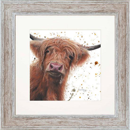 Betsy Cow 48cm Square Framed Print