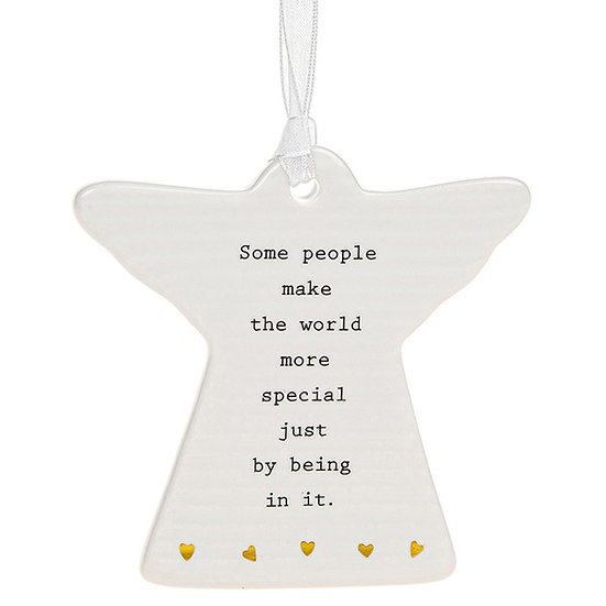 Thoughtful Words Hanging Plaque - World