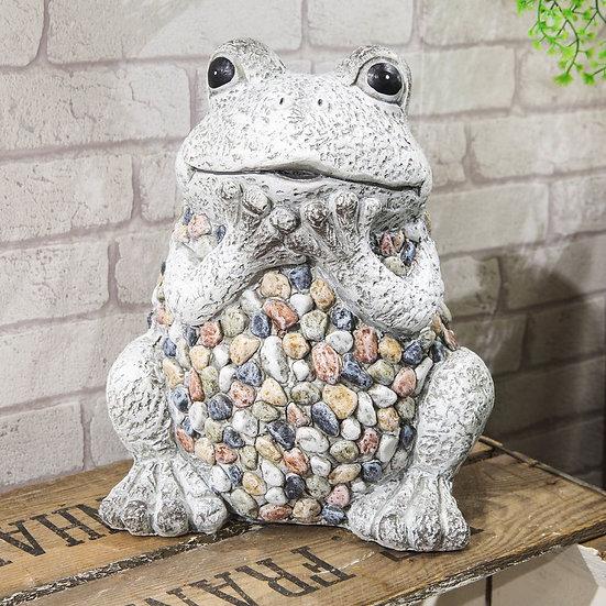 Mosaic Polystone Frog Garden Ornament