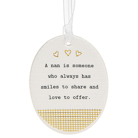 Thoughtful Words Hanging Plaque - Nan