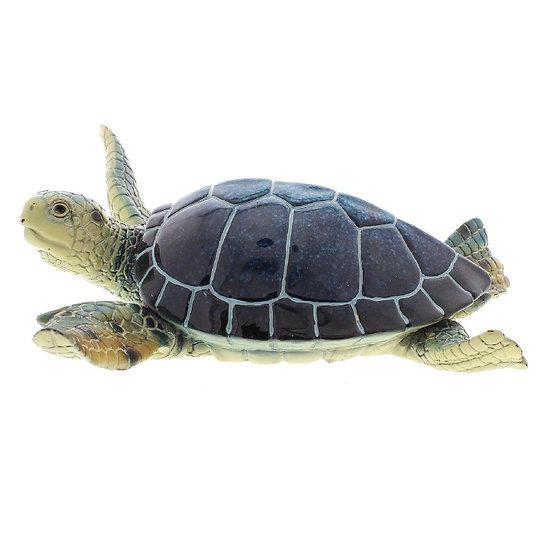 Blue Turtle Figurine