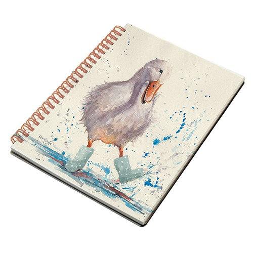 Deidre Duck A5 Spiral notebook