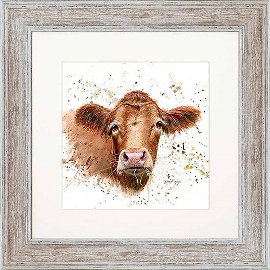 Gertrude Cow 48cm Square Framed Print