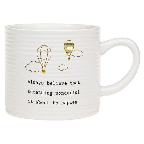 Thoughtful Words Ceramic Mug - Believe