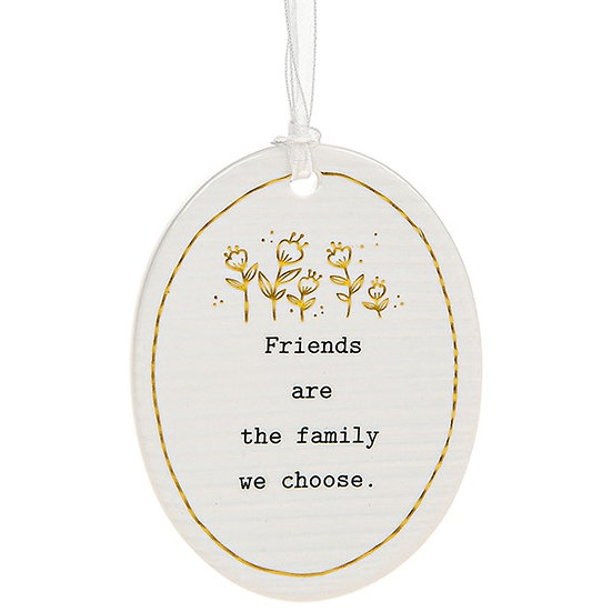 Thoughtful Words Hanging Plaque - Friends