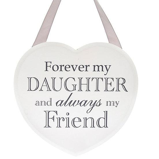 Shabby Chic Hanging Heart - Daughter