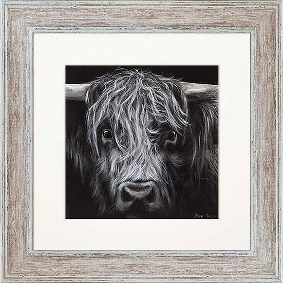 Hamish Cow 48cm Square Framed Print