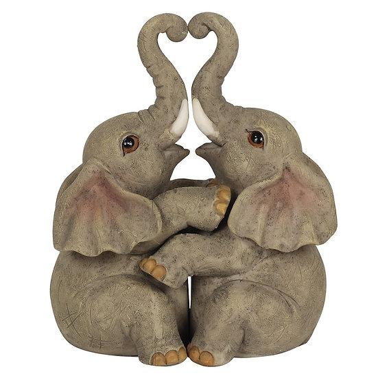 Elephant Embrace Ornament