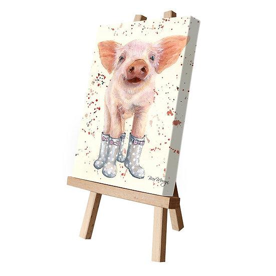 Penelope Pig Canvas Cutie