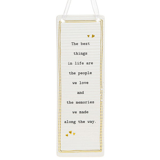 Thoughtful Words Large Hanging Plaque - memories