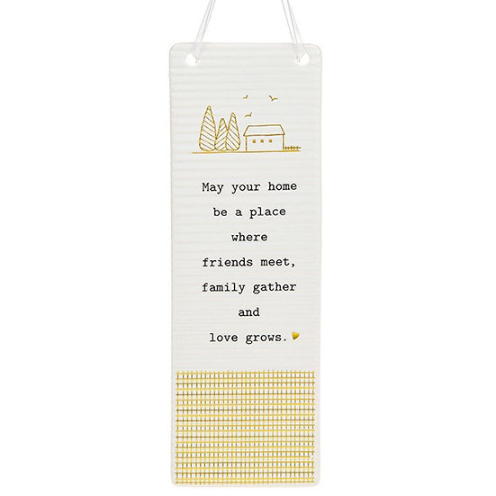 Thoughtful Words Large Hanging Plaque - Home