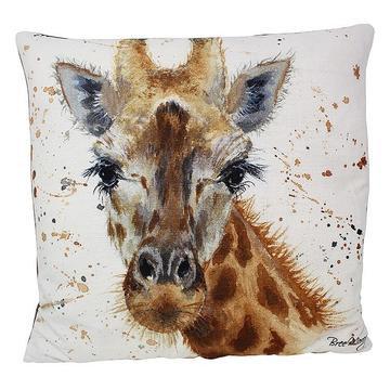 Geraldine Giraffe Luxury Feather Cushion - Bree Merryn