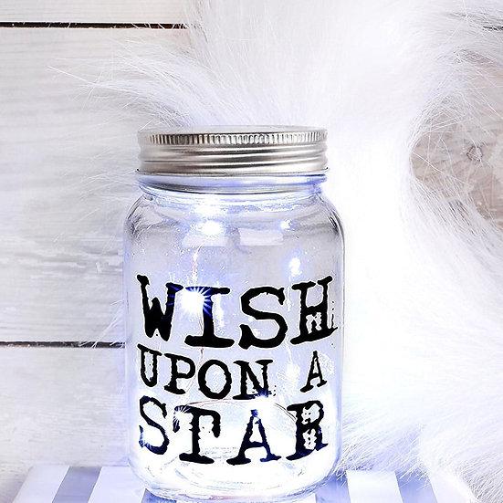 LED 'Wish Upon A Star' Light Up Jar