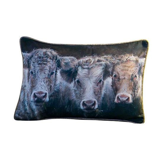 'Cow Do You Do' Luxury Rectangular Cushion