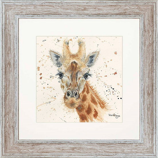 Geraldine Giraffe 48cm Square Framed Print