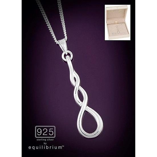 Sterling 925 Silver Necklace - Triple Twist