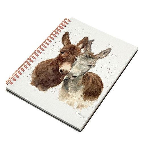Jack & Diane Donkeys A5 Spiral notebook