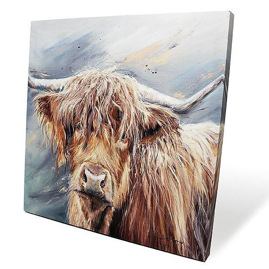 Bonny Cow 40cm Box Canvas