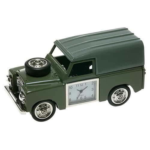 Green 4 Wheel Drive Miniature Desk Clock