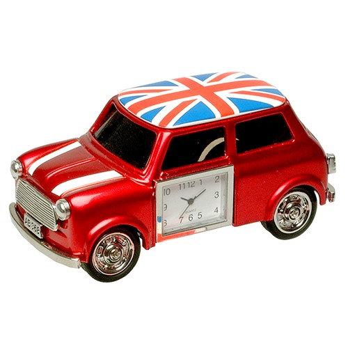 Mini Car with Union Jack Miniature Desk Clock