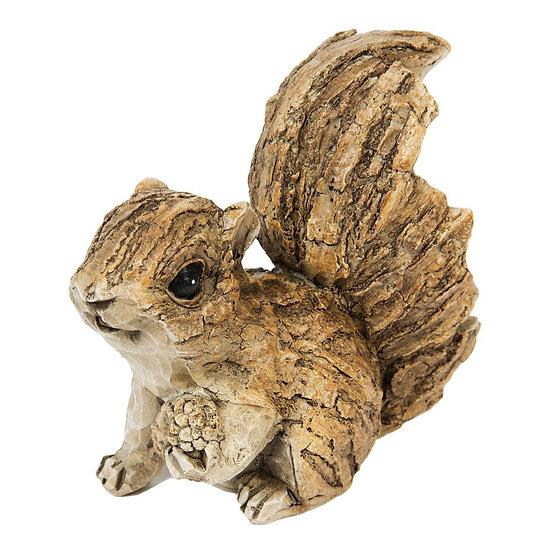 Bark Effect Squirrel Figurine