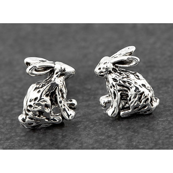 Silver Plated Hare Earrings