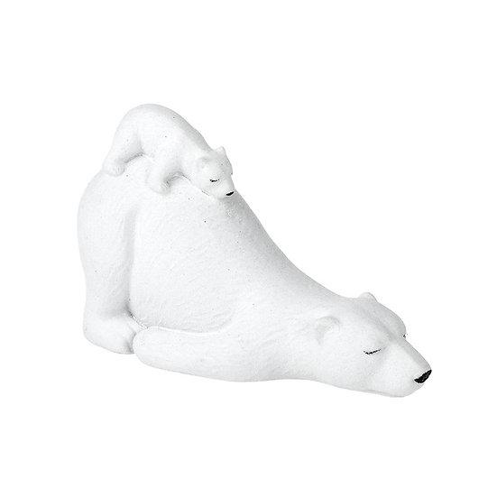 Mother and Baby Polar Bears Sleeping