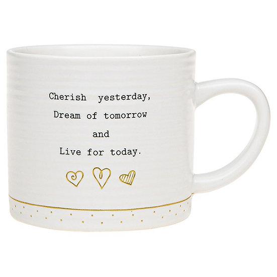 Thoughtful Words Ceramic Mug - Live